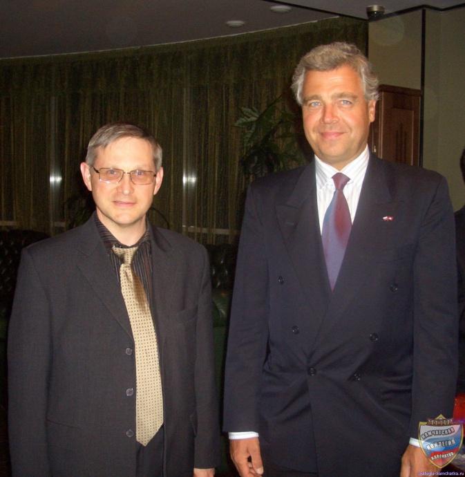 Адвокат Игорь Копытов и чрезвычайный и полномочный посол Швейцарии в Российской Федерации Эрвин Хофер