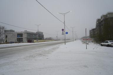вид ул. Ломоносова в сторону проспекта Содружества