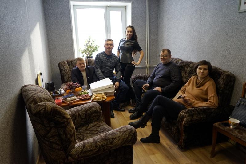 29 ноября 2018 года. В коллегии перед поздравлением Евгения Длужевского с днем рождения