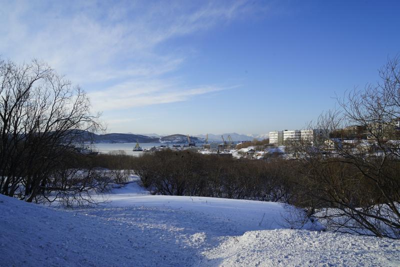 вид в сторону Богородского озера со стороны Петропавловского шоссе