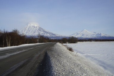 выезд из Елизово в сторону Петропавловска-Камчатского (Шуманинского перекрестка)