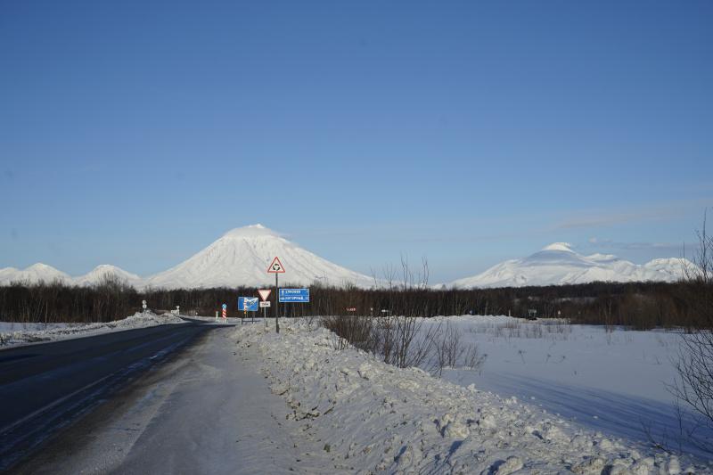 дорога из поселка Термальный