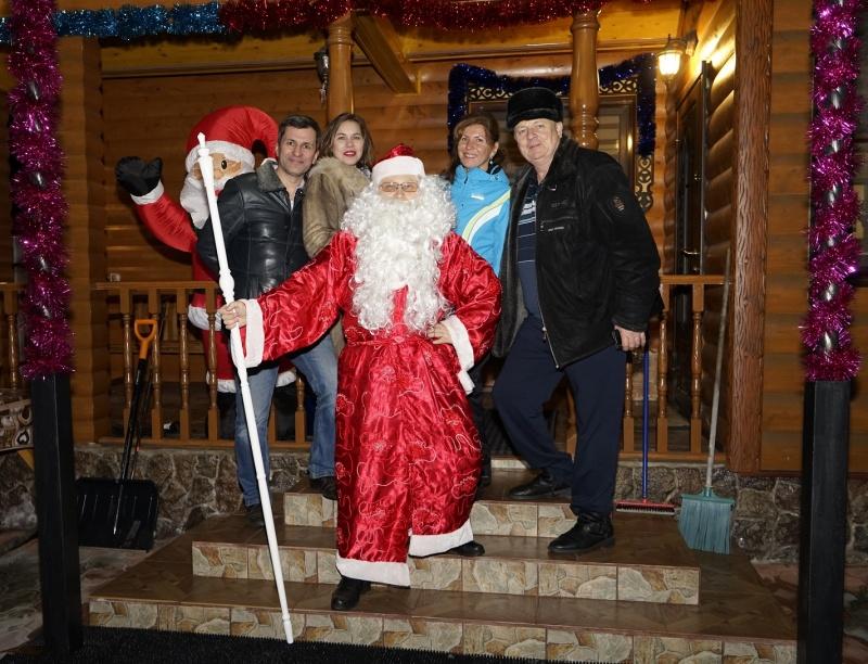 31.12.2017 - Дед Мороз у друзей...