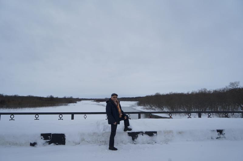 дорога в Усть-Большерецк. Мост через реку