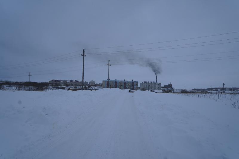 город Усть-Большерецк. Вид с выезда из города