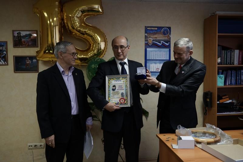 22 февраля 2018 года. Собрание по случаю 15 летия образования коллегии. Награждается адвокат Сергей Скоробач