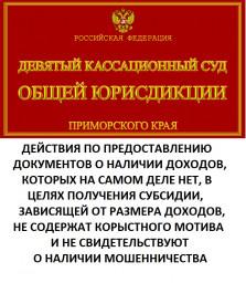 Девятый кассационный суд обратил внимание на то, что Камчатский краевой суд не правильно понимает состав мошенничества в сфере выплат