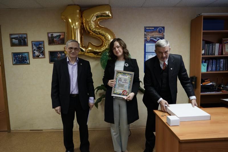 22 февраля 2018 года. Собрание по случаю 15 летия образования коллегии. Награждается адвокат Кристина Ус